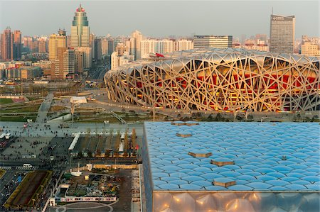 Beijing National Stadium and Beijing National Aquatics Center, Olympic Green, Beijing, China Stock Photo - Rights-Managed, Code: 700-03698012