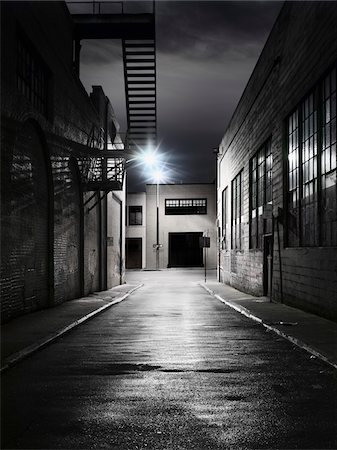 Alley at Night Stock Photo - Rights-Managed, Code: 700-03698118