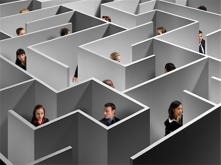 People in Large Maze Stock Photo - Rights-Managed, Code: 700-03698129