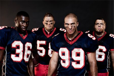 football team - Group of Football Players in Studio Stock Photo - Rights-Managed, Code: 700-03698202