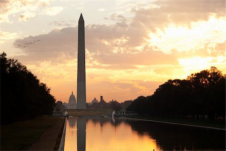 Washington Monument and Capitol Building at Sunset, Washington D.C., USA Stock Photo - Rights-Managed, Code: 700-03698264