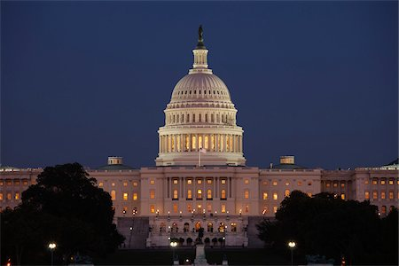 The Capitol Building at Night, Washington, D.C., USA Stock Photo - Rights-Managed, Code: 700-03698271