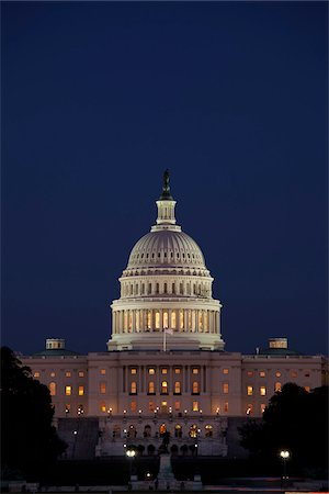 The Capitol Building at Night, Washington, D.C., USA Stock Photo - Rights-Managed, Code: 700-03698272