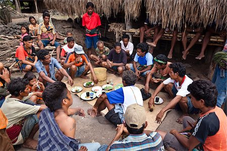 Funeral Ceremony, Waihola Village, Sumba, Indonesia Stock Photo - Rights-Managed, Code: 700-03698321