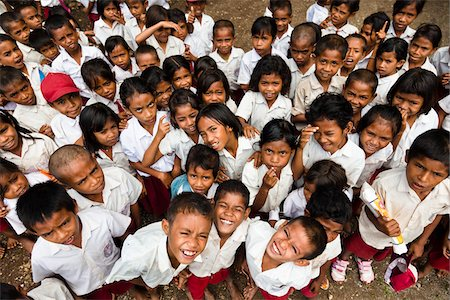Children at Larawatu School, Sumba, Indonesia Stock Photo - Rights-Managed, Code: 700-03698323