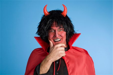 Portrait of the Devil Stock Photo - Rights-Managed, Code: 700-03698426