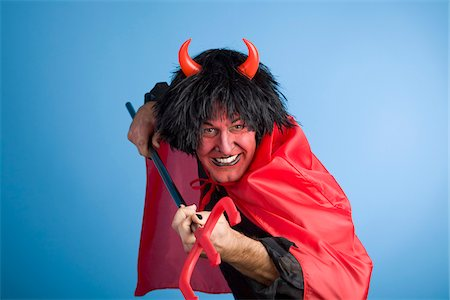 Portrait of the Devil Stock Photo - Rights-Managed, Code: 700-03698427