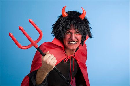 Portrait of the Devil Stock Photo - Rights-Managed, Code: 700-03698428