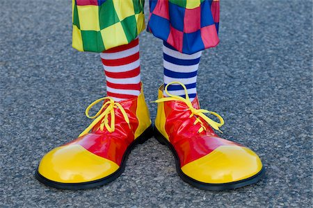 Close-up of Clown's Shoes Stock Photo - Rights-Managed, Code: 700-03698423