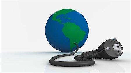Earth with Plug Stock Photo - Rights-Managed, Code: 700-03698431