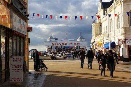 pennant flag - Grand Pier, Weston-super-Mare, Somerset, England Stock Photo - Rights-Managed, Code: 700-03698433