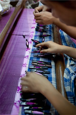 Girls Weaving, Bagan, Mandalay Division, Myanmar Stock Photo - Rights-Managed, Code: 700-03692010