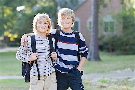 Brothers Going to School Stock Photo - Rights-Managed, Code: 700-03719316