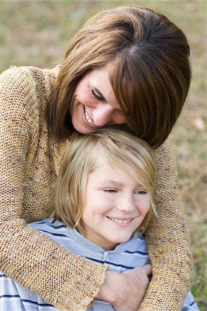 Close-Up of Mother and Son Stock Photo - Rights-Managed, Code: 700-03719338