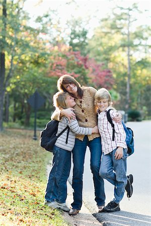 Mother Taking Sons to School Stock Photo - Rights-Managed, Code: 700-03719342