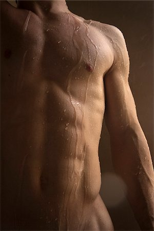 Close-up of Man's Wet Torso Stock Photo - Rights-Managed, Code: 700-03720167