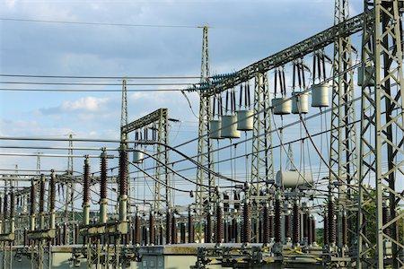 Fence, Electrical Substation, Franconia, Bavaria, Germany Stock Photo - Rights-Managed, Code: 700-03720181