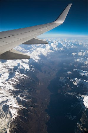 View of Swiss Alps from Airplane Stock Photo - Rights-Managed, Code: 700-03737442