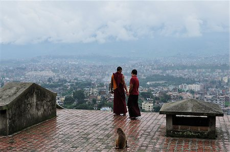 Monks at Swayambhunath, Kathmandu, Bagmati, Madhyamanchal, Nepal Stock Photo - Rights-Managed, Code: 700-03737562