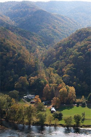 road landscape - Overview of Home in Valley, West Virginia, USA Stock Photo - Rights-Managed, Code: 700-03737596
