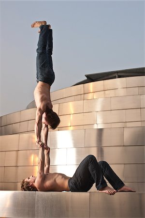 Two Men Acrobats Performing Stock Photo - Rights-Managed, Code: 700-03737620