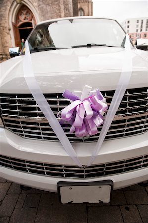 Limousine Decorated for Wedding Stock Photo - Rights-Managed, Code: 700-03737636