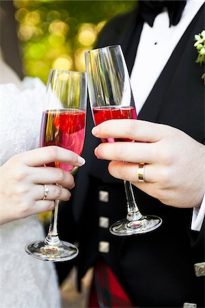 Bride and Groom Toasting Stock Photo - Rights-Managed, Code: 700-03737631
