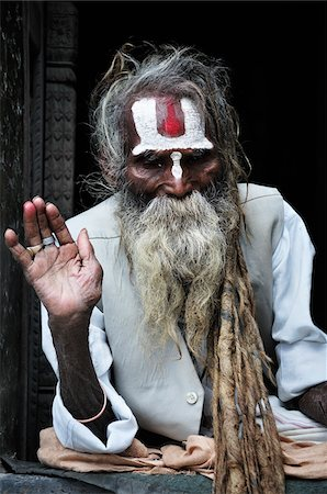 Sadhu, Pashupatinath Temple, Kathmandu, Bagmati, Madhyamanchal, Nepal Stock Photo - Rights-Managed, Code: 700-03737816