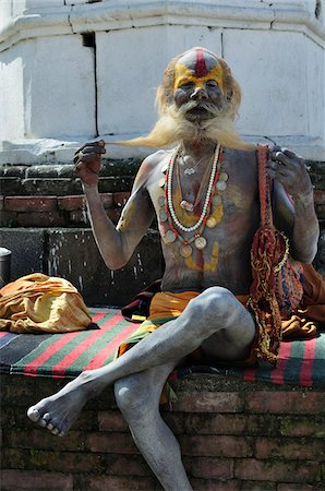 Sadhu, Pashupatinath Temple, Kathmandu, Bagmati, Madhyamanchal, Nepal Stock Photo - Rights-Managed, Code: 700-03737811