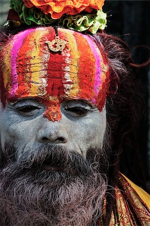 Sadhu, Pashupatinath Temple, Kathmandu, Bagmati, Madhyamanchal, Nepal Stock Photo - Rights-Managed, Code: 700-03737813