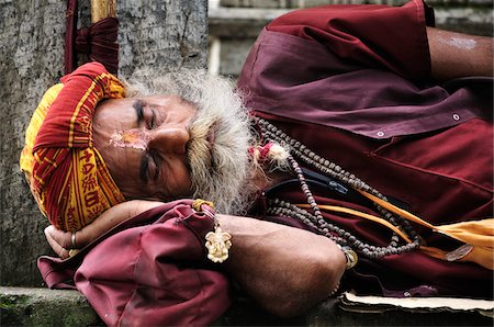 Sadhu, Pashupatinath Temple, Kathmandu, Bagmati, Madhyamanchal, Nepal Stock Photo - Rights-Managed, Code: 700-03737824