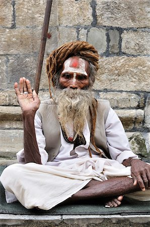 Sadhu, Pashupatinath Temple, Kathmandu, Bagmati, Madhyamanchal, Nepal Stock Photo - Rights-Managed, Code: 700-03737825