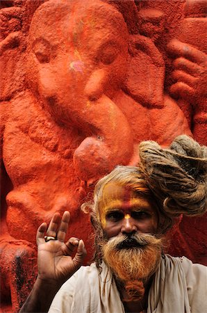Sadhu, Pashupatinath Temple, Kathmandu, Bagmati, Madhyamanchal, Nepal Stock Photo - Rights-Managed, Code: 700-03737821