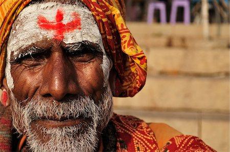 Sadhu, Varanasi, Varanasi District, Uttar Pradesh, India Stock Photo - Rights-Managed, Code: 700-03737851