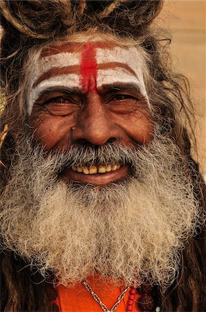 Sadhu, Varanasi, Varanasi District, Uttar Pradesh, India Stock Photo - Rights-Managed, Code: 700-03737868