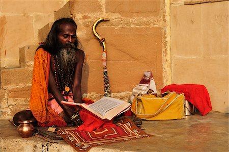 Sadhu, Varanasi, Varanasi District, Uttar Pradesh, India Stock Photo - Rights-Managed, Code: 700-03737869