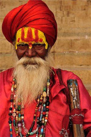 Sadhu, Varanasi, Varanasi District, Uttar Pradesh, India Stock Photo - Rights-Managed, Code: 700-03737876