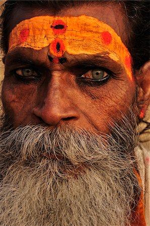 Sadhu, Varanasi, Varanasi District, Uttar Pradesh, India Stock Photo - Rights-Managed, Code: 700-03737877