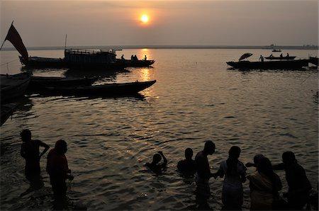 Ritual Bathing, River Ganges, Varanasi, Varanasi District, Uttar Pradesh, India Stock Photo - Rights-Managed, Code: 700-03737873