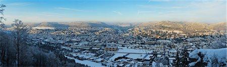 panoramic winter scene - View of Albstadt-Ebingen, Swabian Alb, Baden-Wurttemberg, Germany Stock Photo - Rights-Managed, Code: 700-03737912