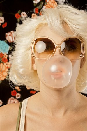Close-Up of Woman Chewing Gum Stock Photo - Rights-Managed, Code: 700-03738027