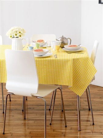 setting kitchen table - Table Set for Breakfast Stock Photo - Rights-Managed, Code: 700-03738034