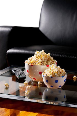 spotted - Popcorn in Bowls on Table Stock Photo - Rights-Managed, Code: 700-03738044
