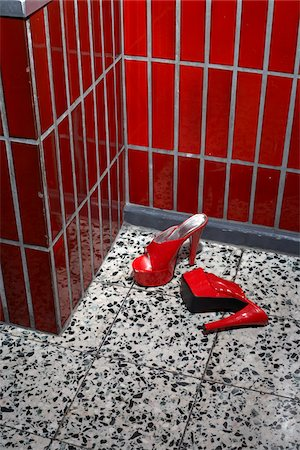 Red Shoes on Tile Floor Stock Photo - Rights-Managed, Code: 700-03738121