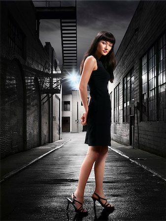 sexi women full body - Woman in Alley at Night Stock Photo - Rights-Managed, Code: 700-03738255