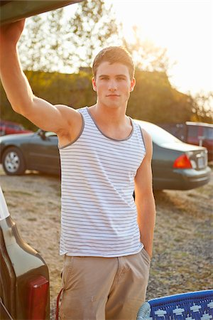 Teenage Boy at Drive-In Theatre Stock Photo - Rights-Managed, Code: 700-03738535