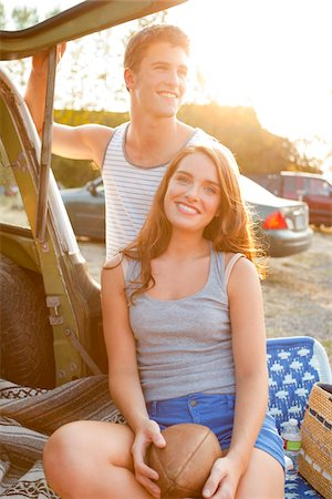 Young Couple at Drive-In Theatre Stock Photo - Rights-Managed, Code: 700-03738537