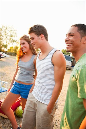 Group of Friends Hanging Out at Drive-In Theatre Stock Photo - Rights-Managed, Code: 700-03738541