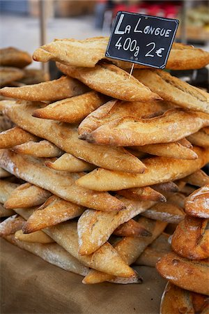 french (places and things) - Bread at Market Kiosk, Aix-en-Provence, Bouches-du-Rhone, Provence, France Stock Photo - Rights-Managed, Code: 700-03738667