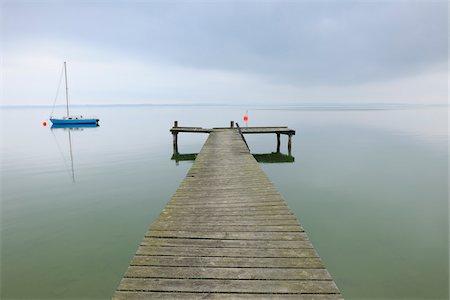 sailing boat storm - Sailboat and Dock, Lake Chiemsee, Bavaria, Germany Stock Photo - Rights-Managed, Code: 700-03738995